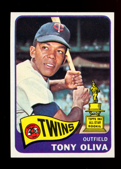 1965 Topps Baseball Card #340 Tony Oliva Minnesota Twins