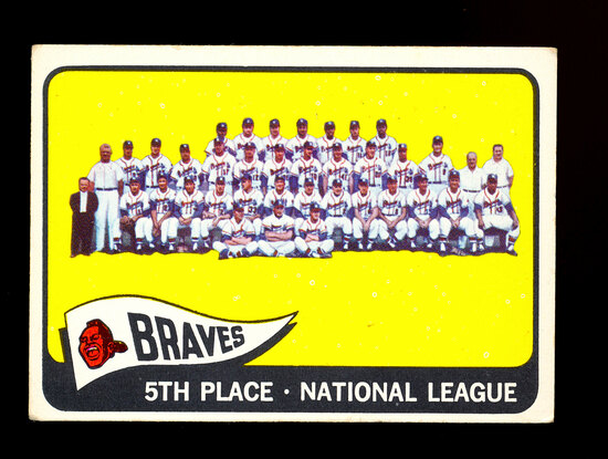 1965 Topps Baseball Card #426 Milwaukee Braves Team Card