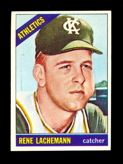 1966 Topps Baseball Card #157 Rene Lachemann Kansas City Athletics