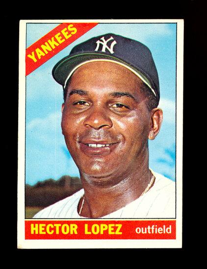 1966 Topps Baseball Card #177 Hector Lopez New York Yankees