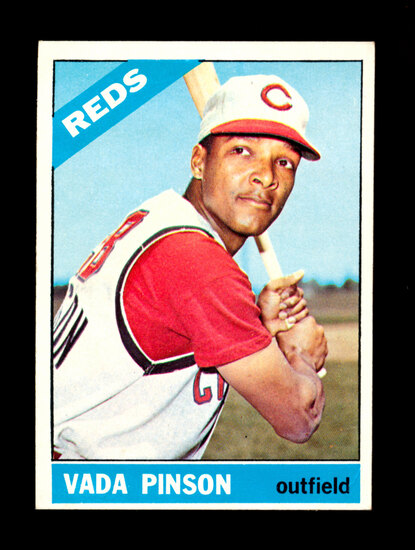 1966 Topps Baseball Card #180 Vada Pinson Cincinnati Reds