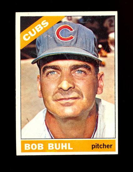 1966 Topps Baseball Card #185 Bob Buhl Chicago Cubs