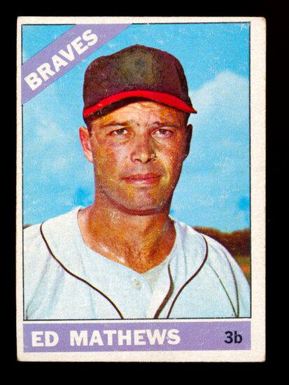 1966 Topps Baseball Card #200 Hall of Famer Eddie Mathews Atlanta Braves