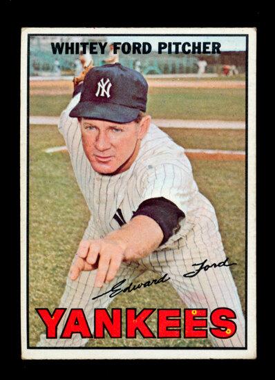 1967 Topps Baseball Card #5 Hall of Famer Whitey Ford New York Yankees