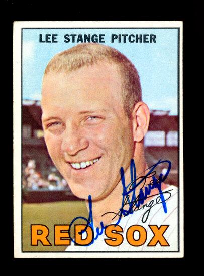 1967 Topps AUTOGRAPHED Baseball Card #99 Lee Strange Boston Red Sox