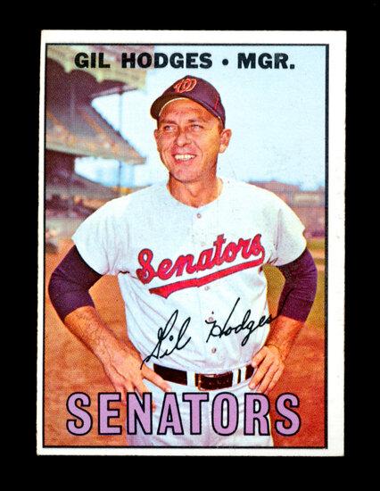 1967 Topps Baseball Card #228 Manager Gil Hodges Washington Senator