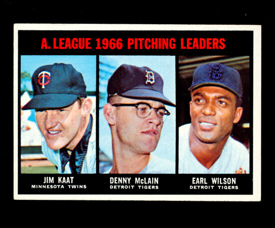 1967 Topps Baseball Card #235 American League Victory Leaders: Jim Kaat-Den