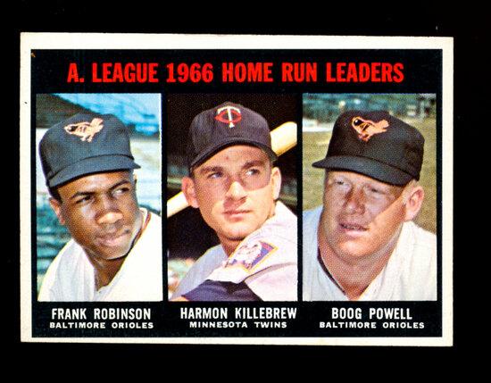 1967 Topps Baseball Card #243 American League Home Run Leaders: Frank Robin