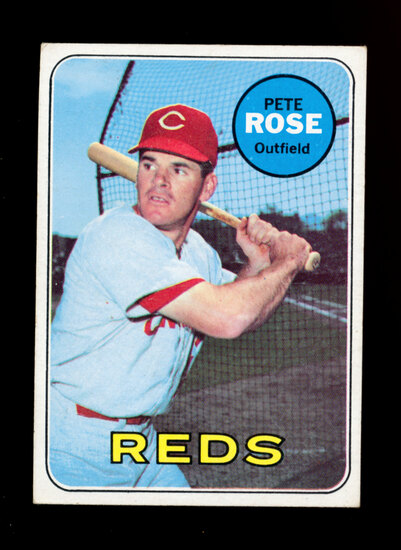 1969 Topps Baseball Card #120 Pete Rose Cincinnati Reds