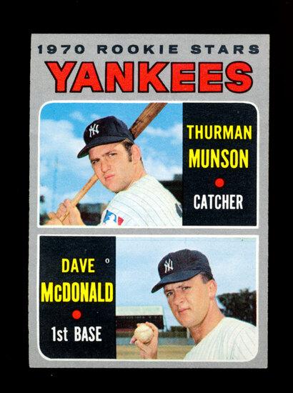 1970 Topps ROOKIE Baseball Card #189 Yankees Rookie Stars: Thurman Munson-D