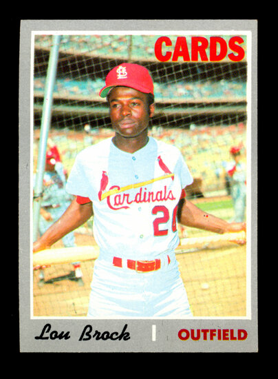 1970 Topps Baseball Card #330 Hall of Famer Lou Brock St Louis Cardinals