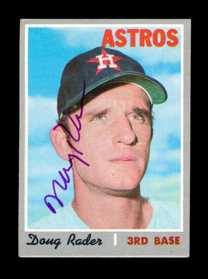 1970 Topps AUTOGRAPHED Baseball Card #355 Doug Rader Houston Astros