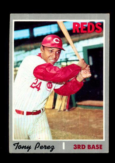 1970 Topps Baseball Card #380 Hall of Famer Tony Perez Cincinnati Reds