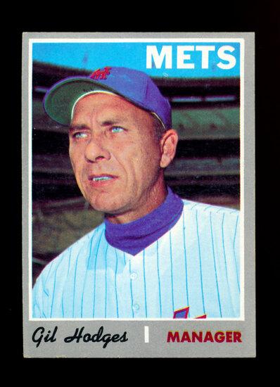 1970 Topps Baseball Card # 394 Gil Hodges Manager New York Mets