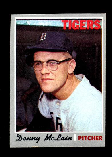 1970 Topps Baseball Card #400 Denny McLain Detroit Tigers