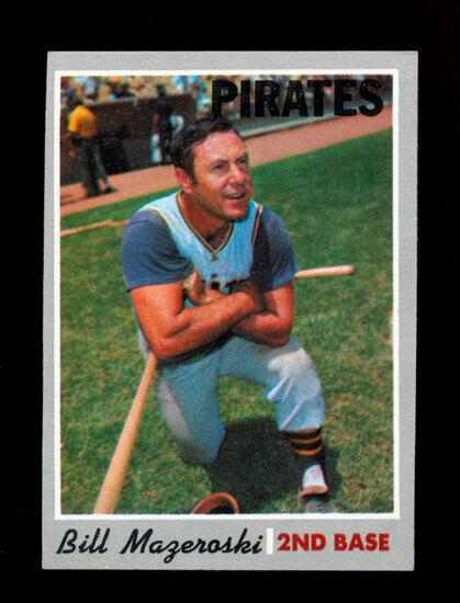 1970 Topps Baseball Card #440 Hall of Famer Bill Mazeroski Pittsburgh Pirat
