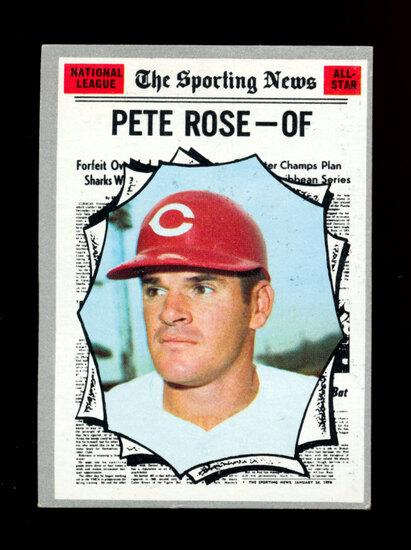 1970 Topps Baseball Card #458 All-Star Pete Rose Cincinnati Reds
