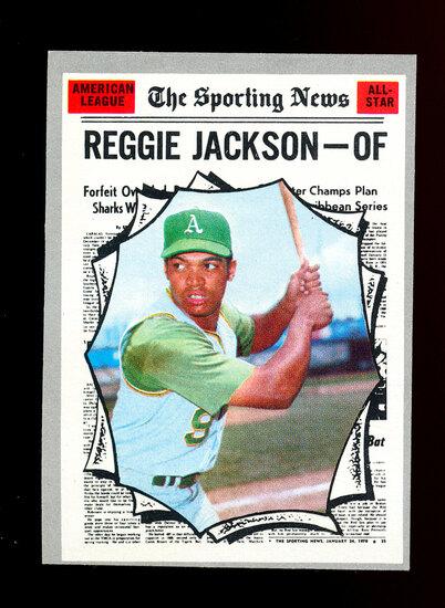 1970 Topps Baseball Card #459 All-Star Hall of Famer Reggie Jackson Oakland