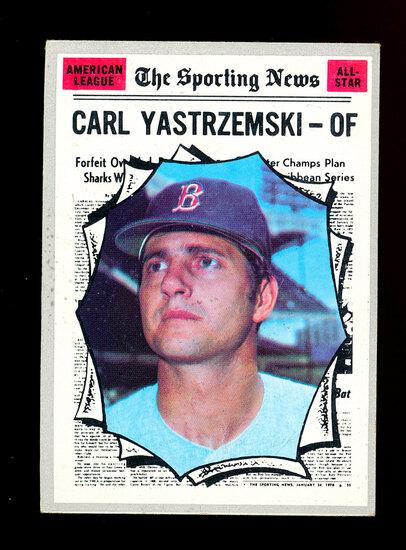 1970 Topps Baseball Card #461 All-Star Hall of Famer Carl Yastrzemski Bosto