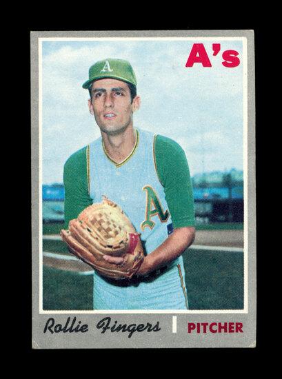 1970 Topps Baseball Card #502 Hall of Famer Rollie Fingers Oakland A's