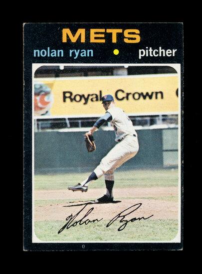 1971 Topps Baseball Card #513 Hall of Famer Nolan Ryan New York Mets