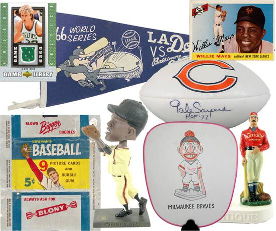 Large Quality Sports Card & Sports Collectibles