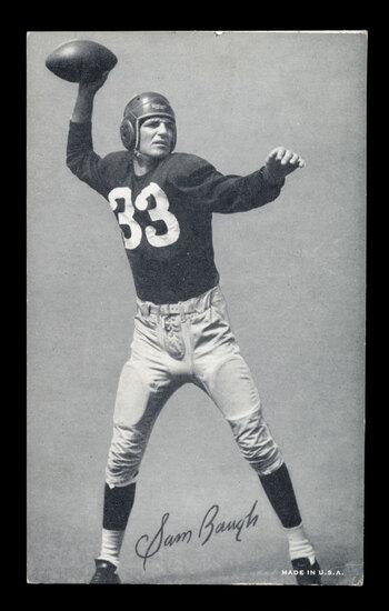 1948-52 Exhibit Football Card Hall of Famer Sammy Baugh Washington Redskins