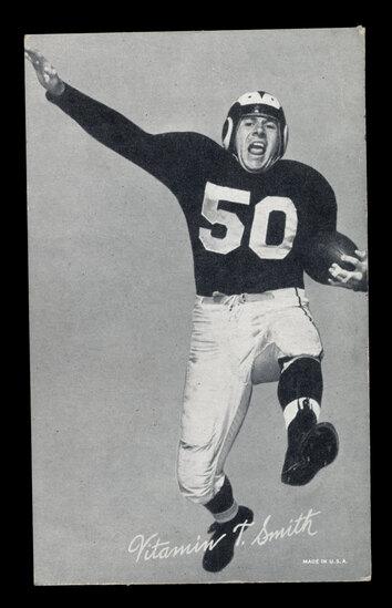 1948-52 Exhibit Football Card Vitamin Smith Los Angeles Rams