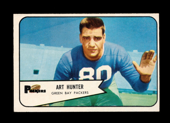 1954 Bowman Football Card #58 Art Hunter Green Bay Packers