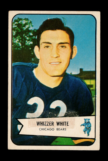 1954 Bowman ROOKIE Football Card #125 Rookie Whizzer White Chicago Bears