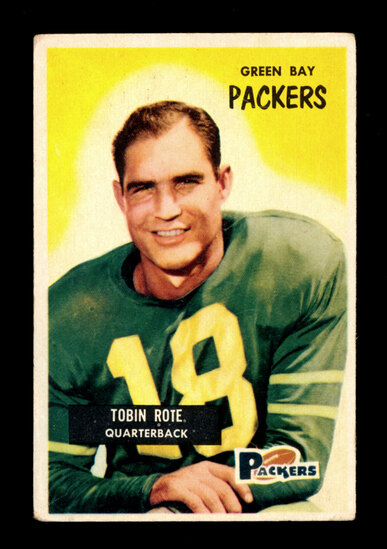1955 Bowman Football Card #74 Tobin Rote Green Bay Packers