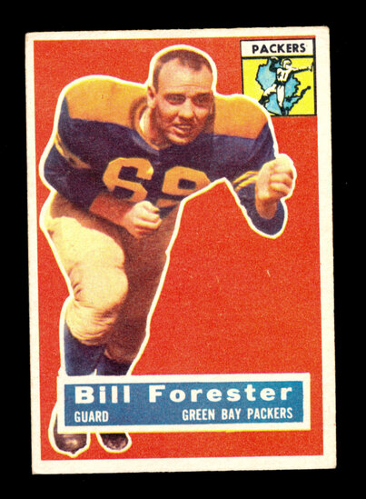 1956 Topps Football Card #79 Bill Forester Green Bay Packers