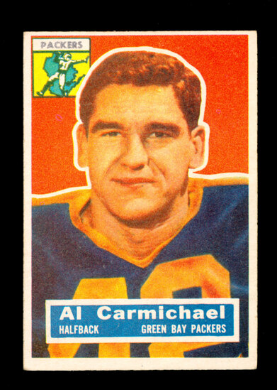 1956 Topps Football Card #115 Al Carmichael Green Bay Packers
