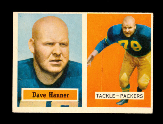 1957 Topps Football Card #21 Dave Hanner Green Bay Packers