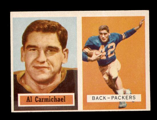 1957 Topps Football Card #57 Al Carmichael Green Bay Packers