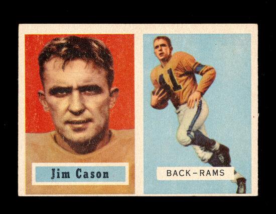 1957 Topps Football Card #143 Jim Cason Los Angeles Rams