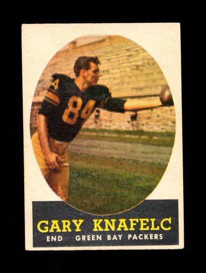 1958 Topps Football Card #56 Gary Knafelc Green Bay Packers