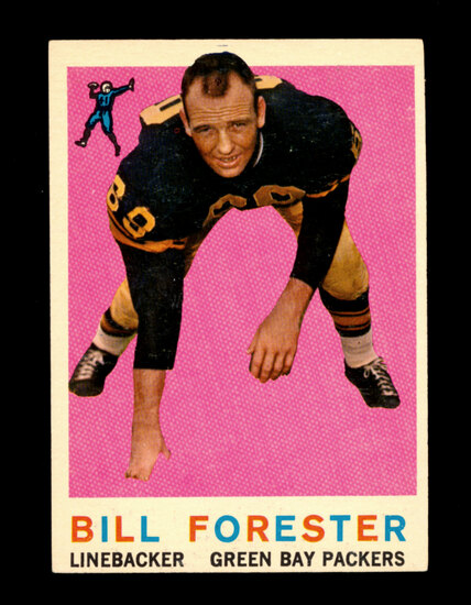 1959 Topps Football Card #39 Bill Forester Green Bay Packers