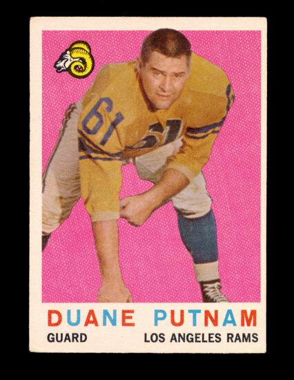 1959 Topps Football Card #67 Duane Putnam Los Angeles Rams