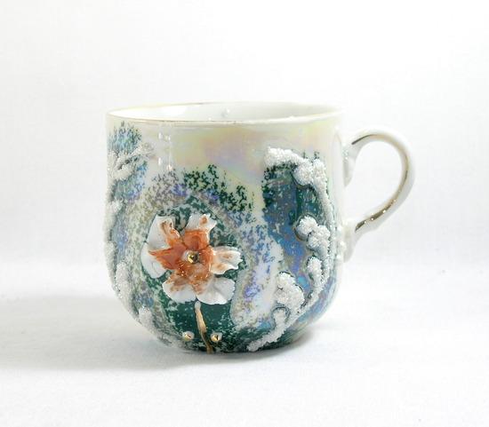 Vintage Porcelain/Ceramic Mustache Mug.