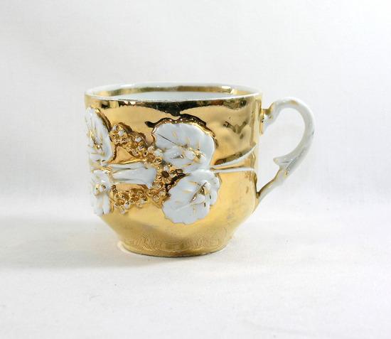 Vintage Gold Mustache Mug