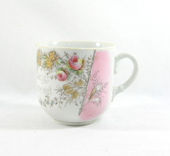 "Vintage ""Forget Me Not"" Mustache Mug. Made in Germany."