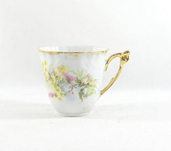 Vintage Flowered Mustache Mug. Bavaria Marking on Bottom.