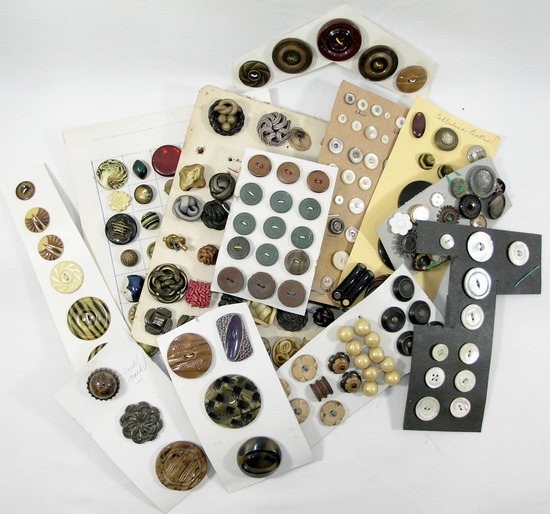 Group of Misc. Mixed Vintage & Newer Buttons. Some Plastic, Some Metal & Ot