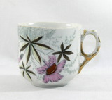 Vintage Flowered Porcelain/Ceramic Mustache Mug.