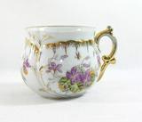 Vintage Violet Flowered Mustache Mug.