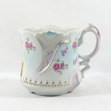 Vintage Porcelain/Ceramic Mustache Mug with Two Horse Heads.