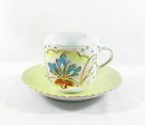 Vintage Flowered Porcelain/Ceramic Cup, and Flowered Porcelain/Ceramic Cup
