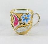 Vintage Flowered Porcelain/Ceramic Cup.