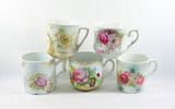 Grouping of 5 Miscellaneous Cups. Porcelain/Ceramic